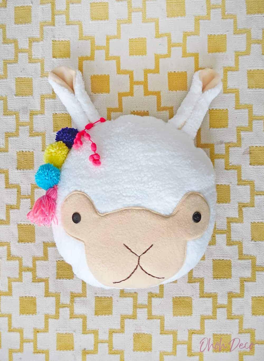 llama pillow sewing pattern