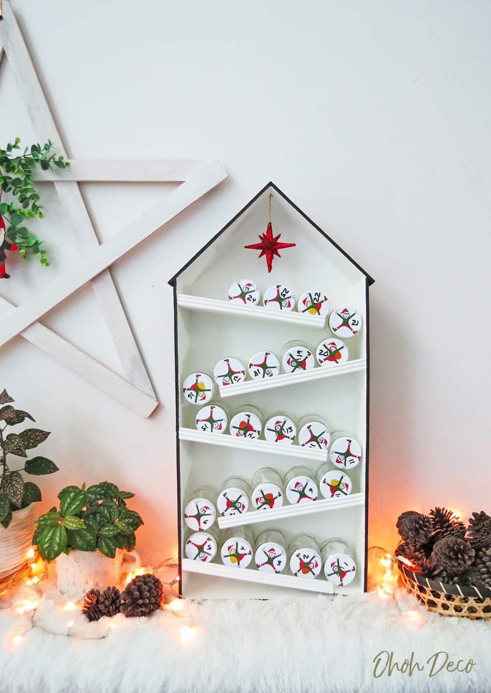 DIY Elves house advent calendar