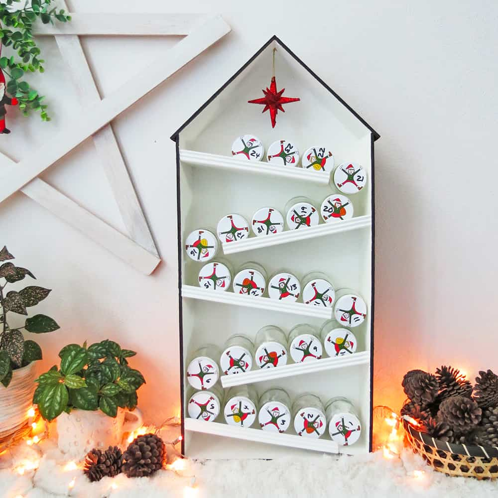 diy elves advent calendar