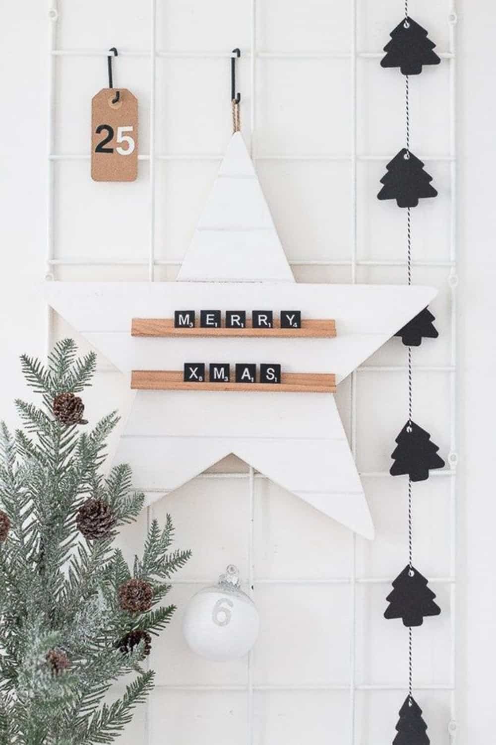 15 DIY to create a scandinavian Christmas decor