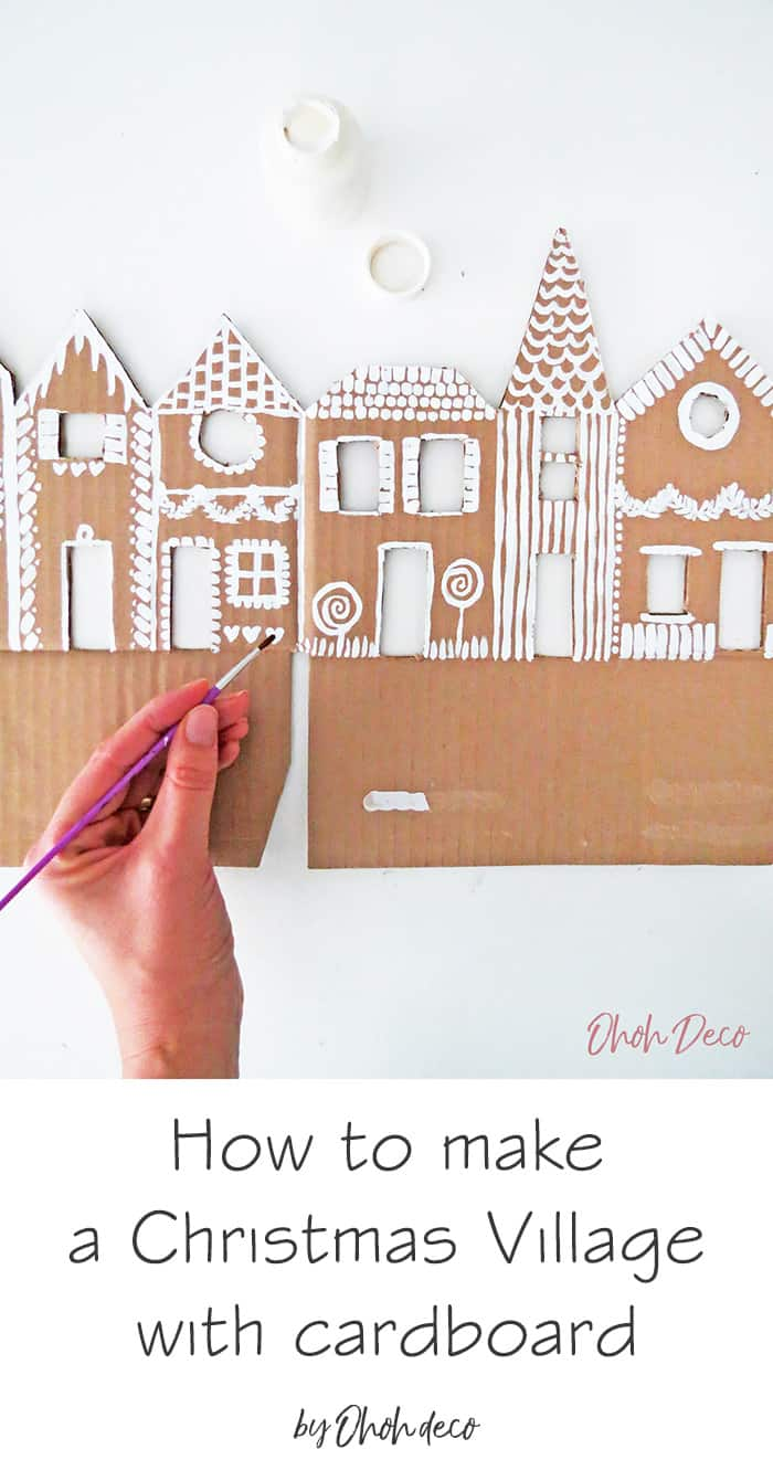 how to make a christmas village with cardboard