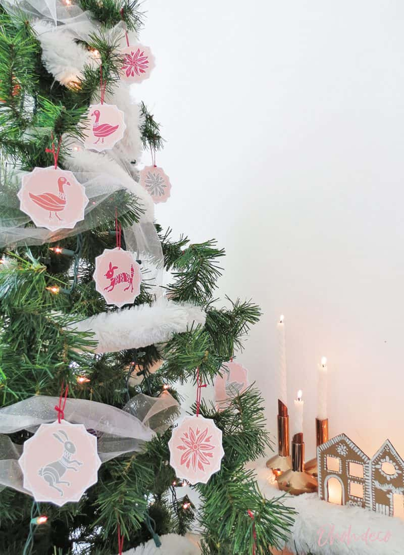 Otomi printed ornaments