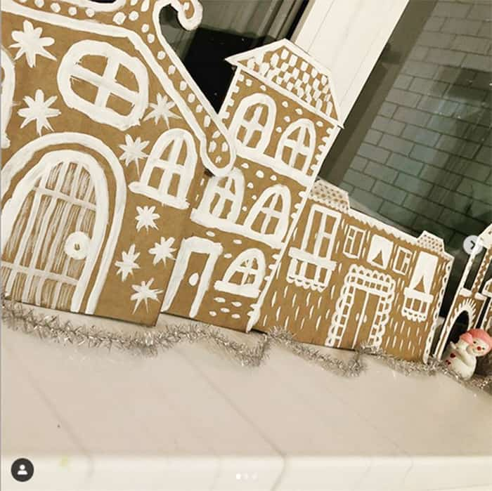 how to make a gingerbread village decor with cardboard