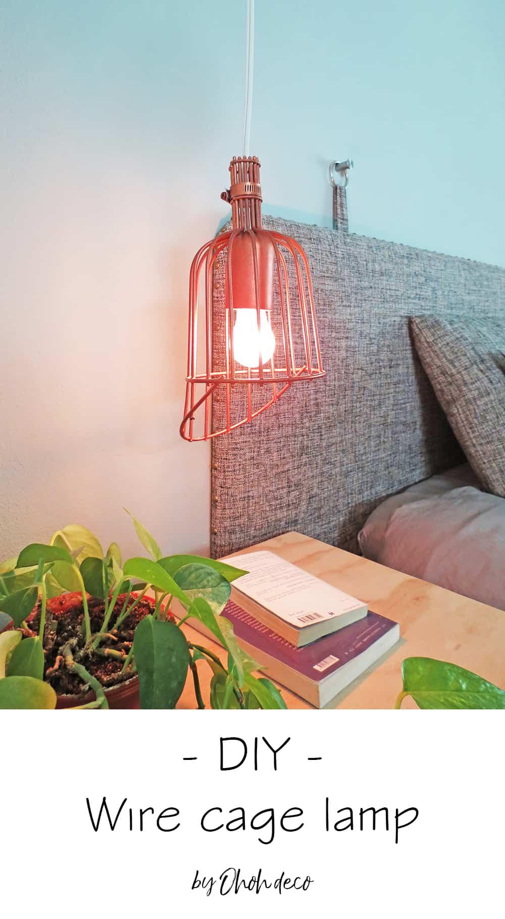 DIY wire cage lamp #light #lighting #diy #cagelamp #copper