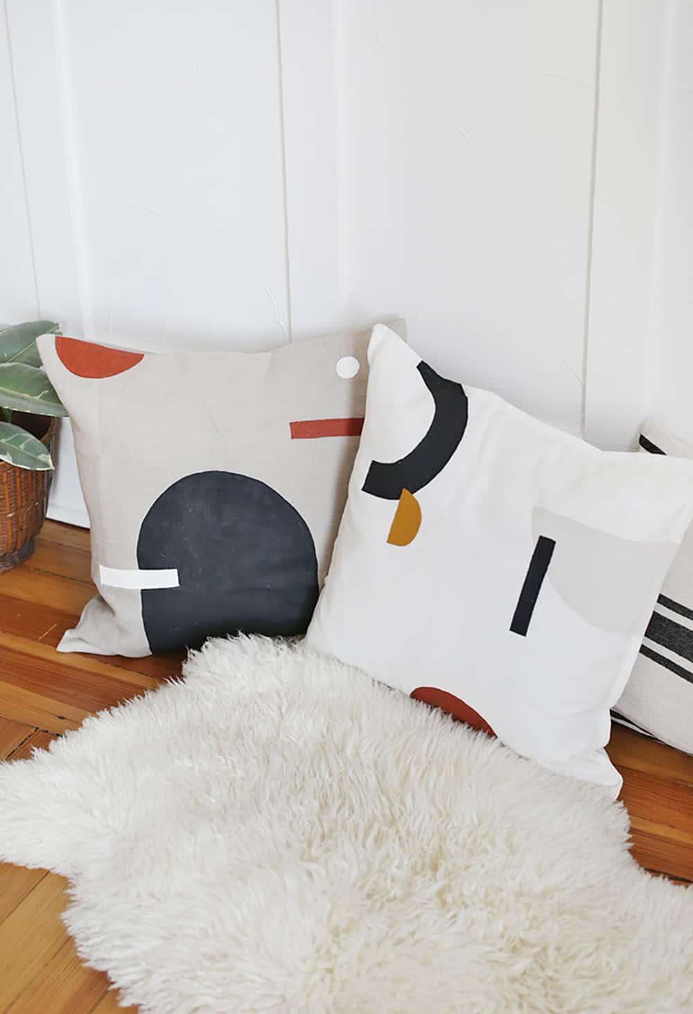 diy painted pillow