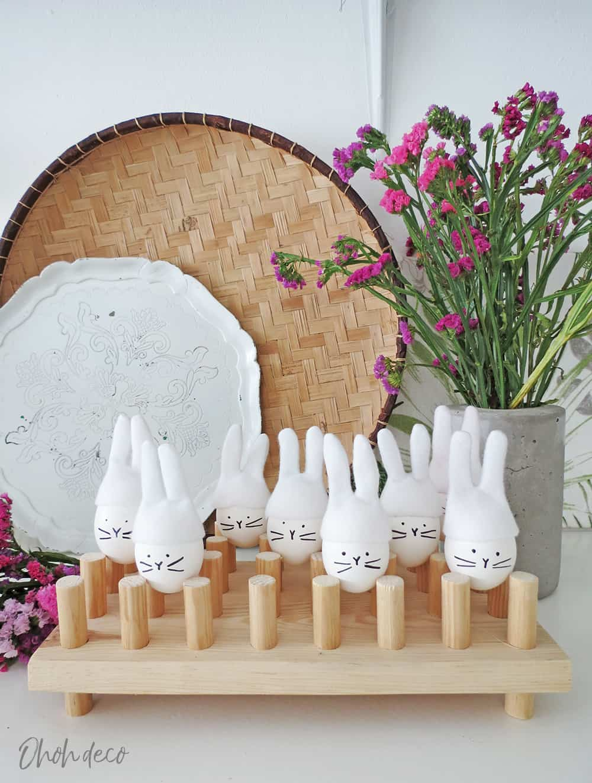 DIY Easter bunny eggs decoration