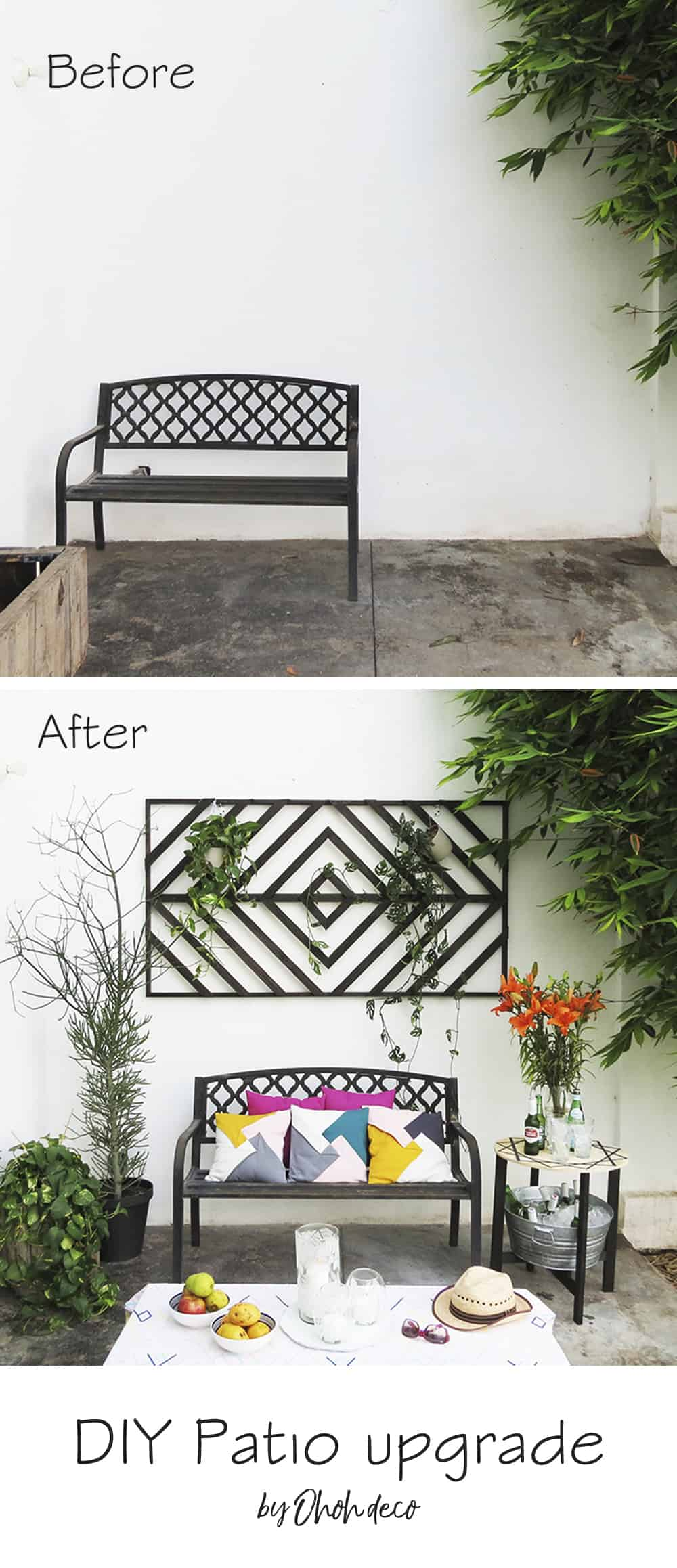 Diy Patio Upgrade Ohoh Deco