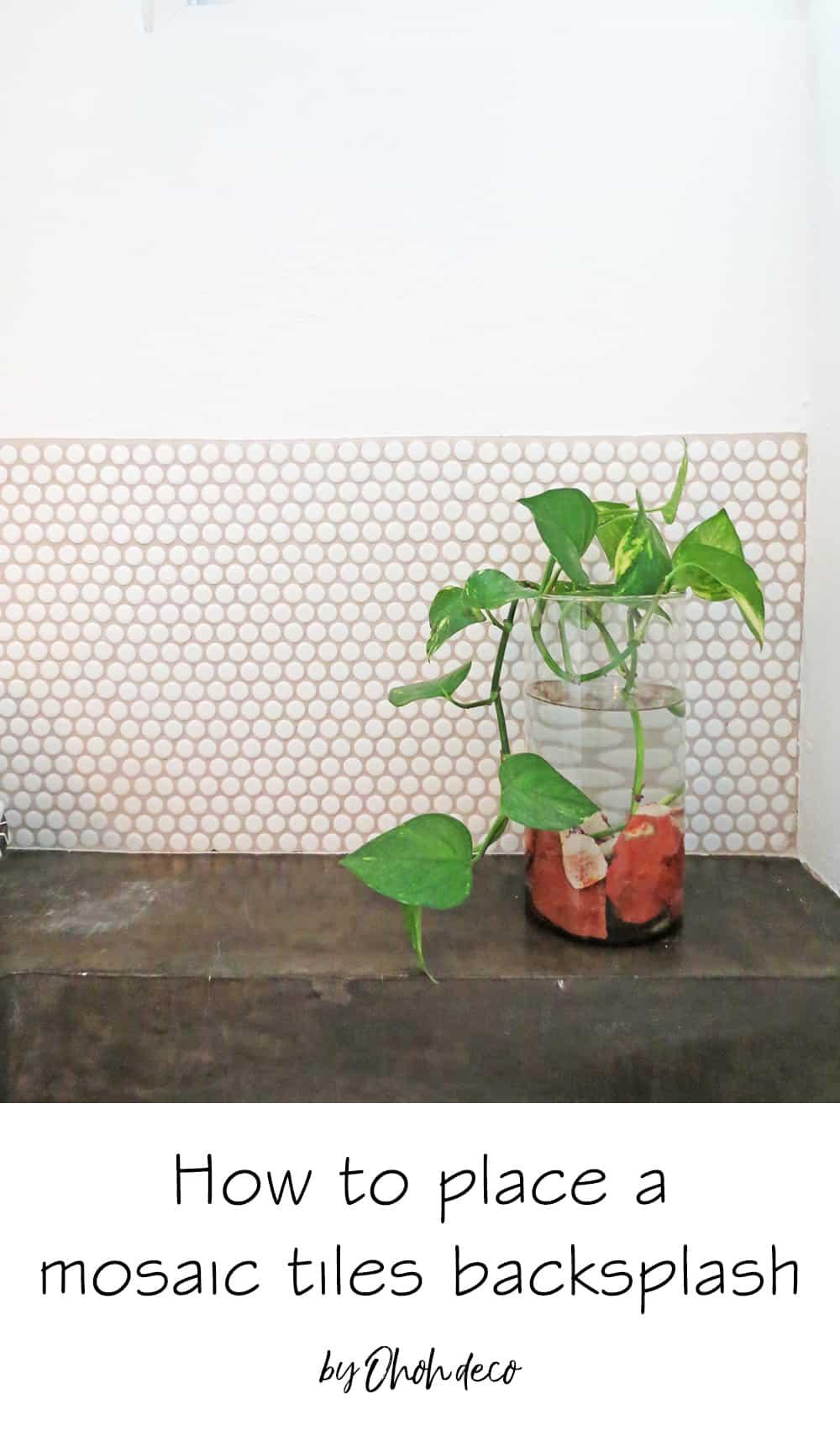 How to place a mosaic tiles backsplash #pennytiles #backsplash #bathroom #mosaic