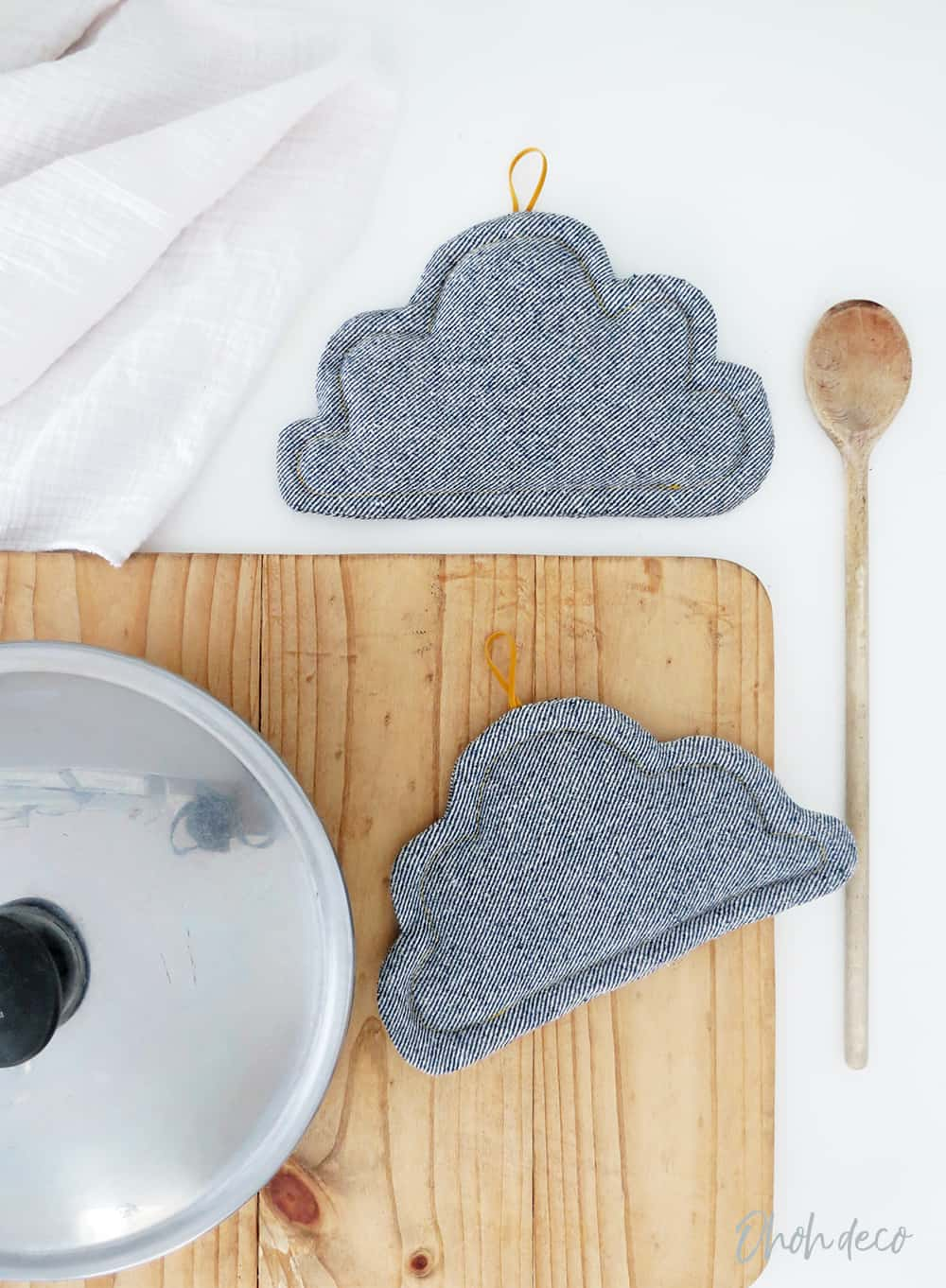free pattern to sew cloud pot holder