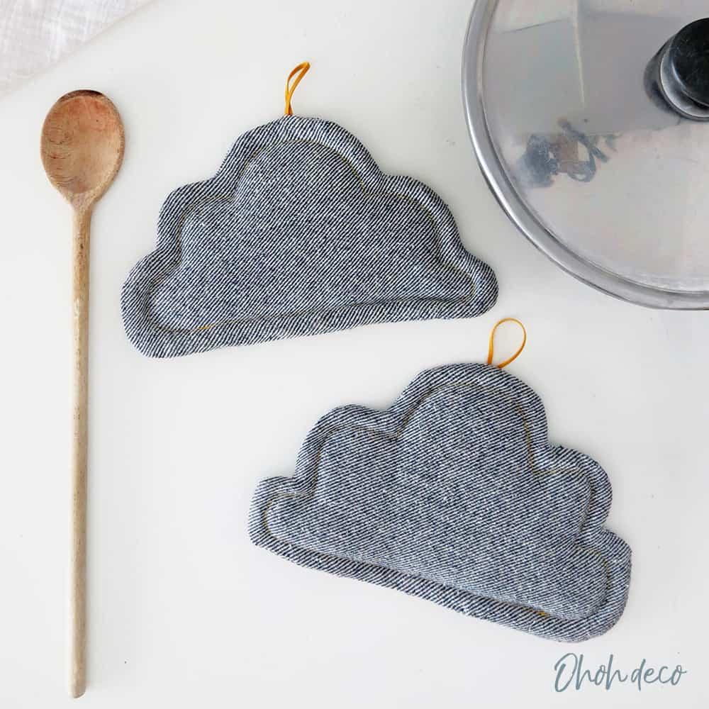 sewing pattern cloud pot holder