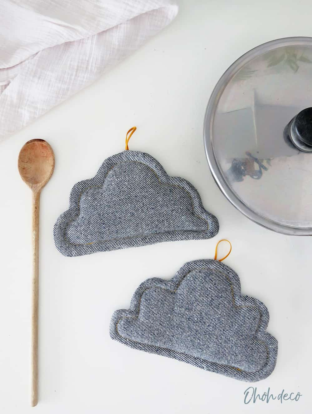 sewing tutorial cloud pot holder