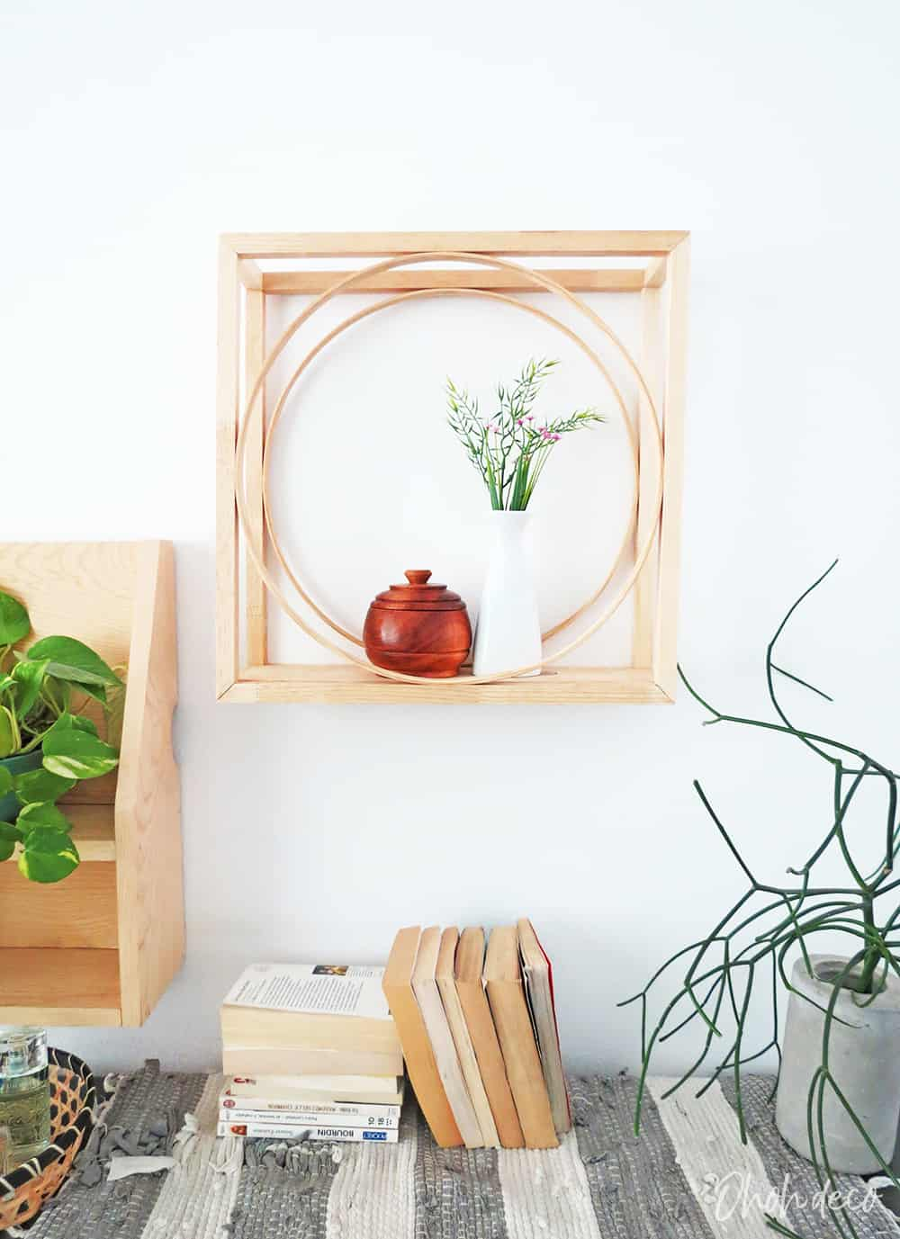 DIY Geometric display shelf