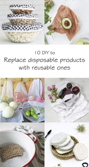 Replace disposable products with reusable ones