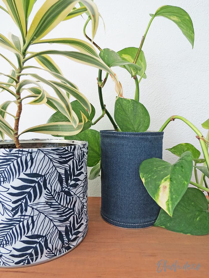 recycled tin cans planters