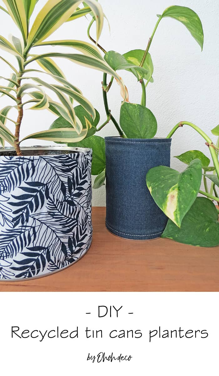 recycled tin cans planters #diy #recycle #upcycle #tin #cans #planter #scrap #fabric