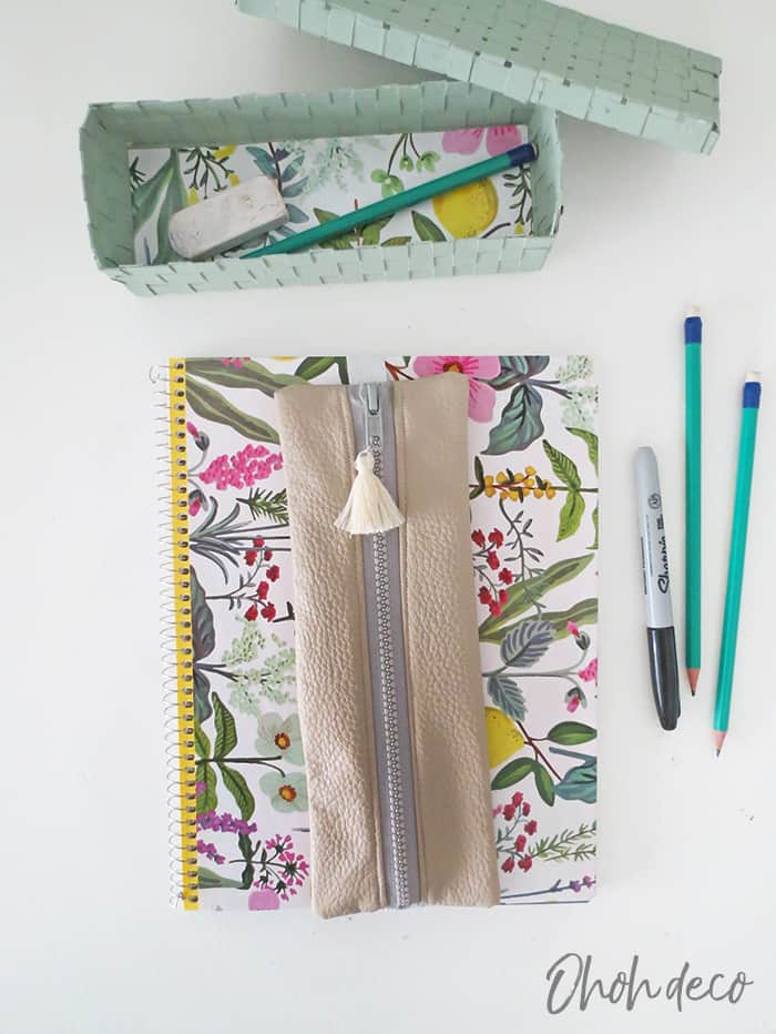 How to sew a leather pencil case