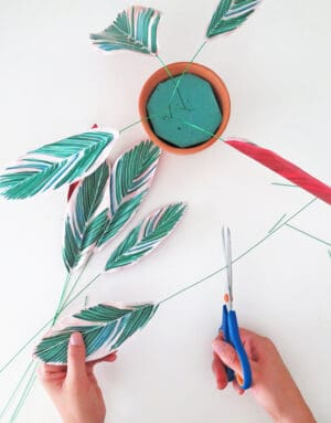 how to make diy paper plant put the plant together