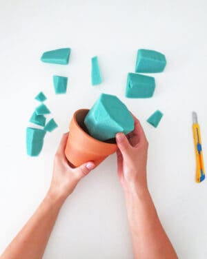 how to make diy paper plant filling the pot