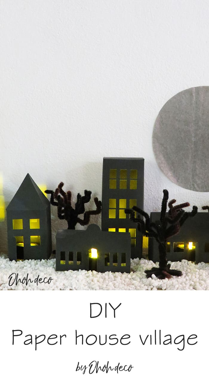 diy paper house craft template