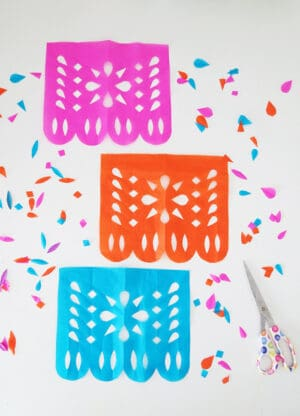 how to make diy papel picado making banners