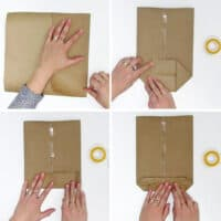 Easy to make a paper gift bag