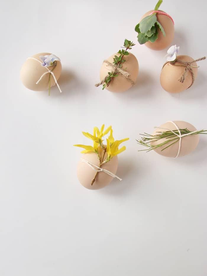 flower eggs decorations