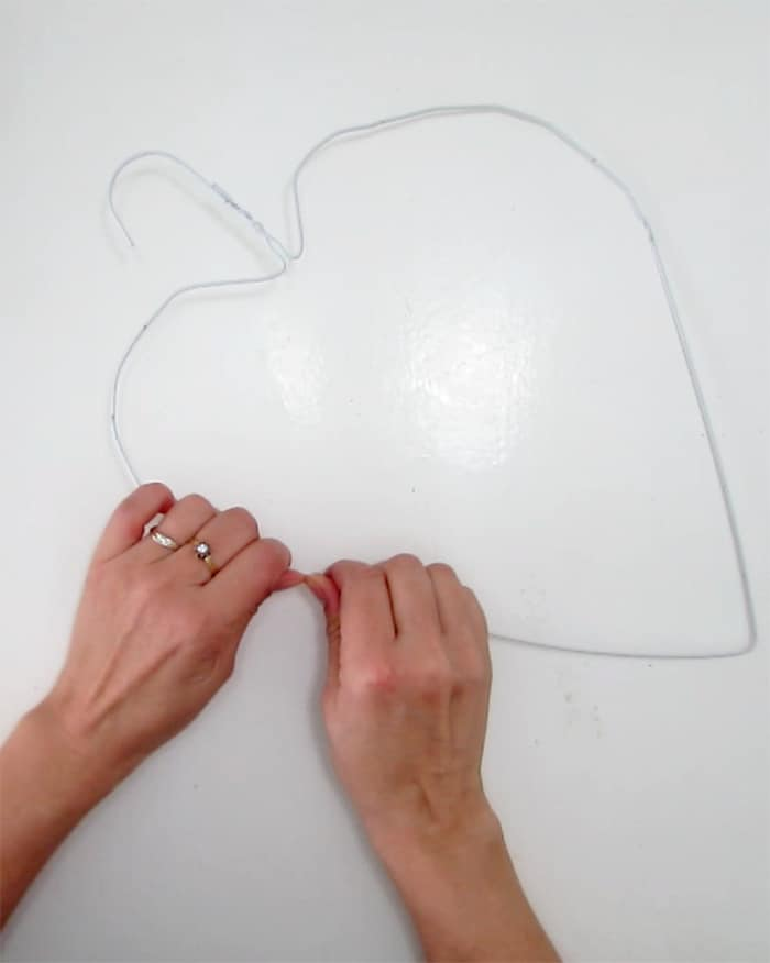 wire cloth hanger heart