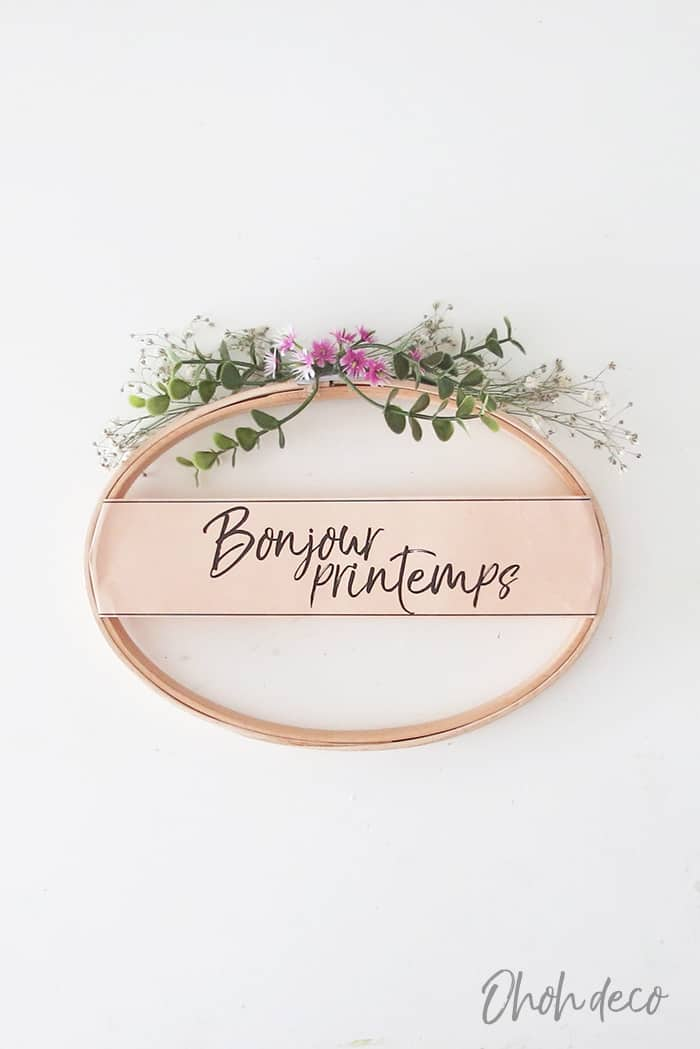 simple to make spring wreath