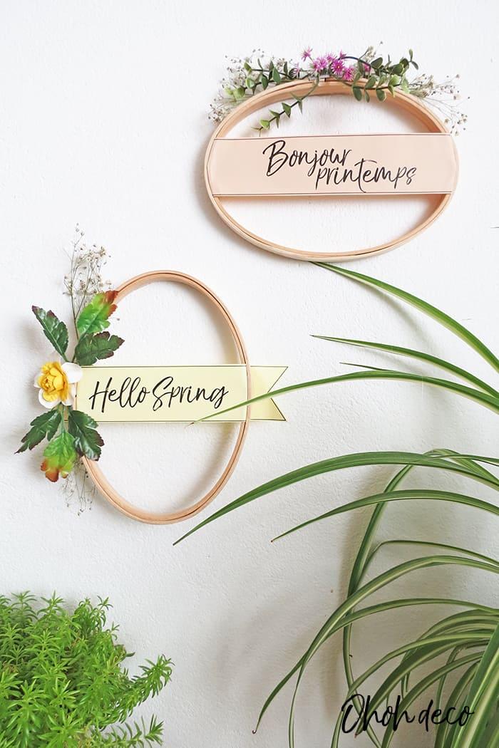 10 minutes spring wreath diy