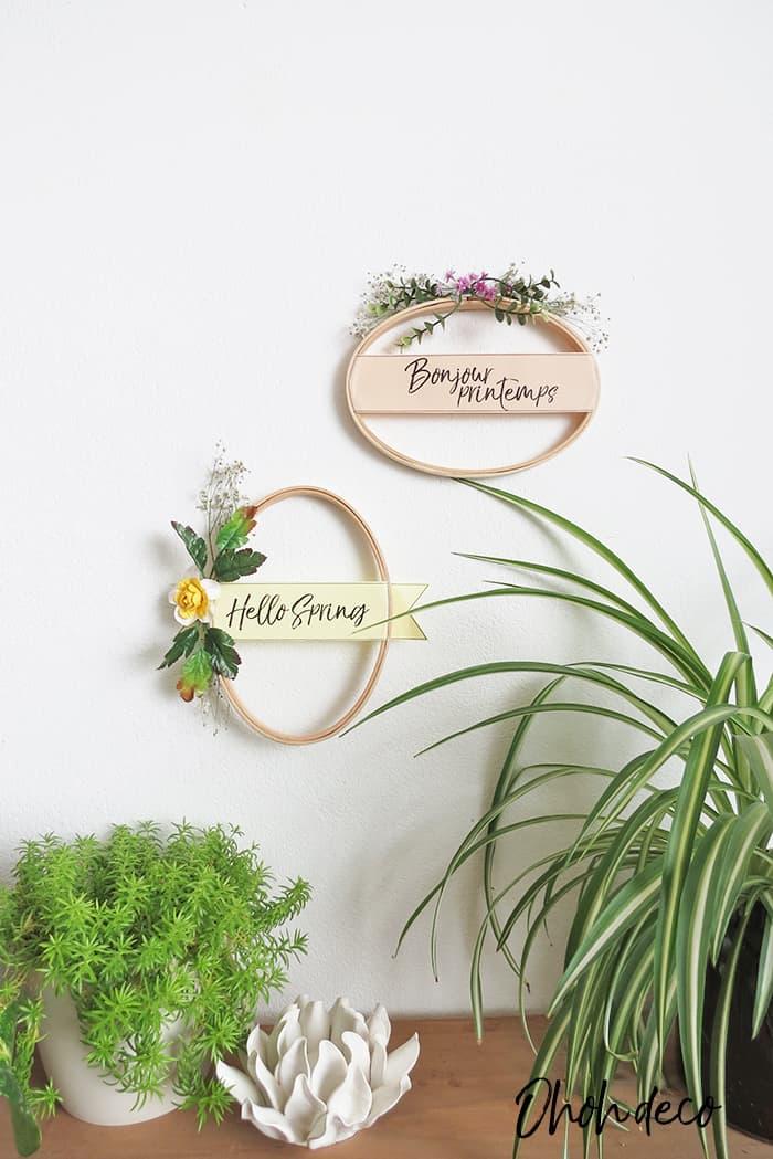 hang spring wreath diy