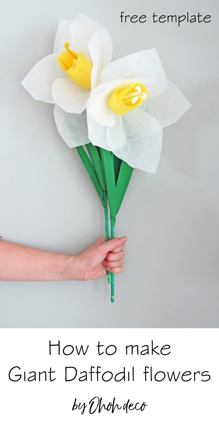 how to make giant daffodil paper flower