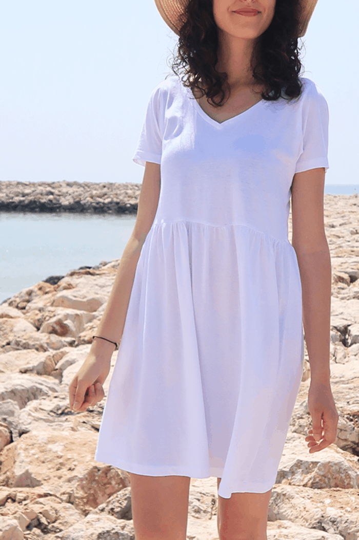 Sew summer dress with t-shirts