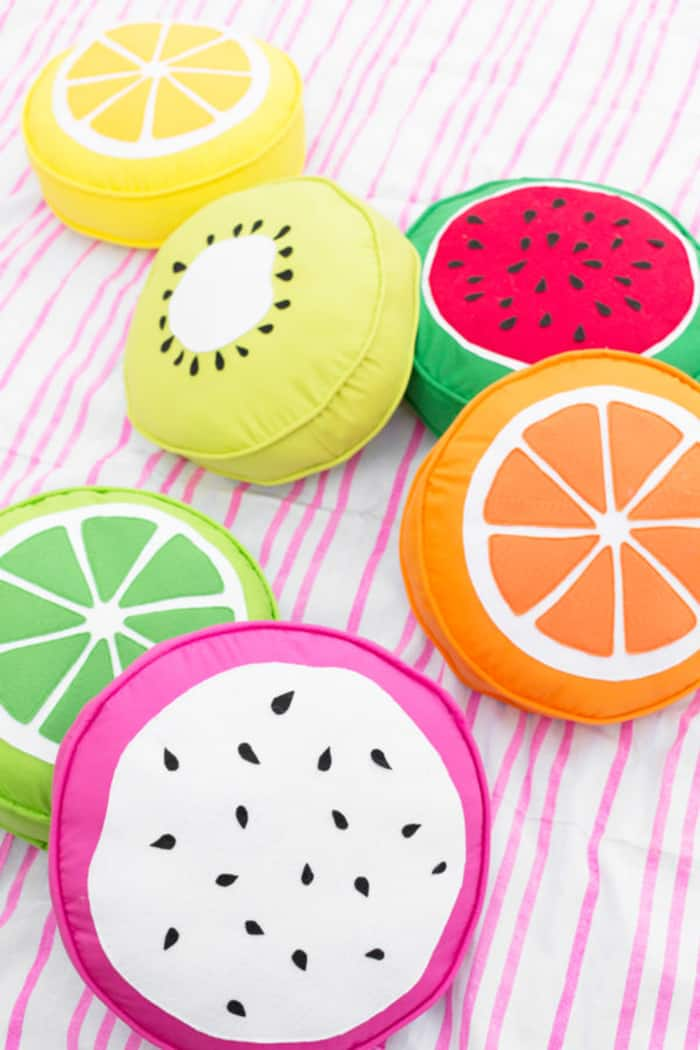 how to sew fruits cushions