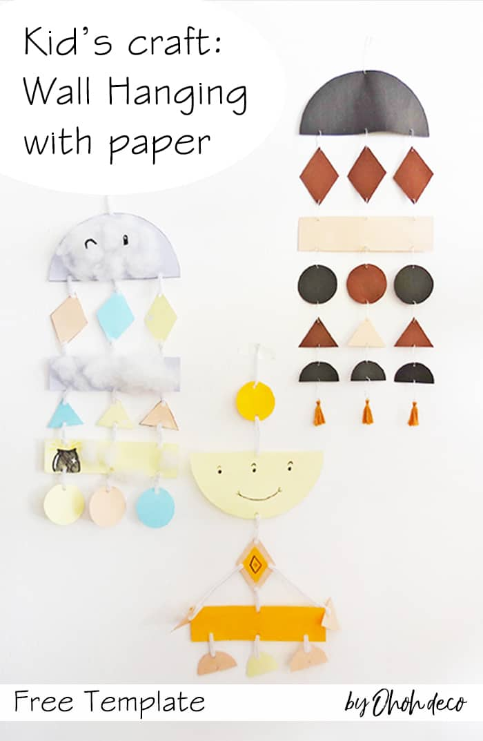 paper wall hanging craft for kids