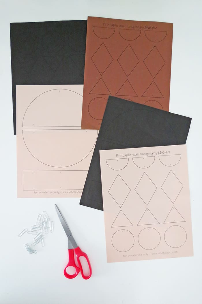 printable to make paper wall hanging