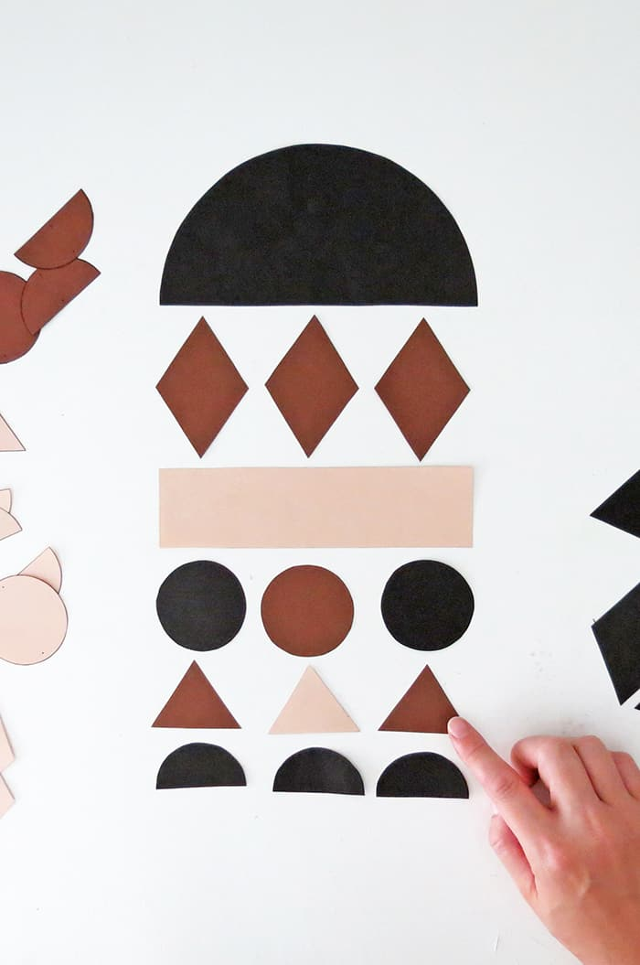 display shape for diy paper wall hanging