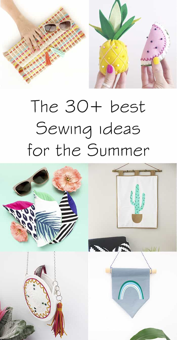30 easy sewing ideas for the summer