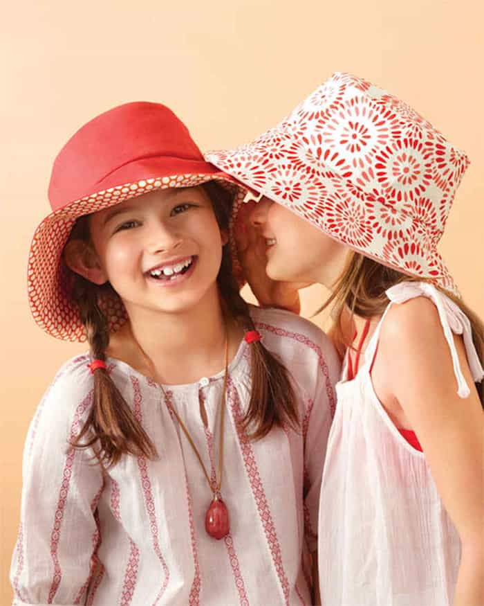 kid and adult sun hat free pattern
