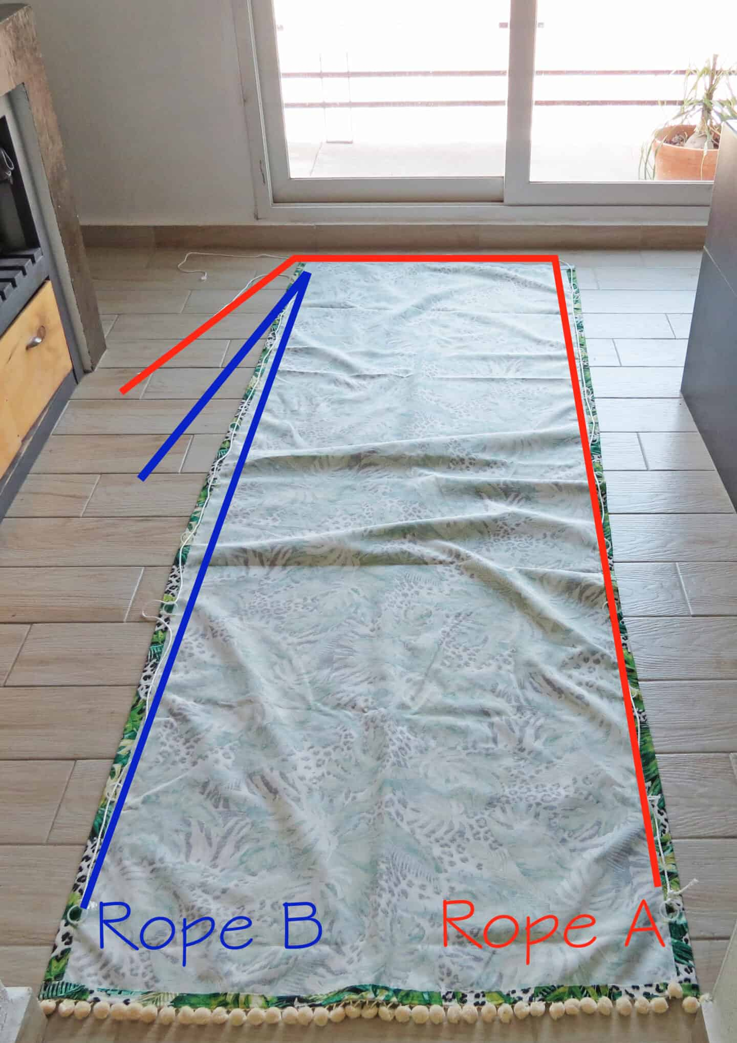 pass the rope to lift diy relaxed blind