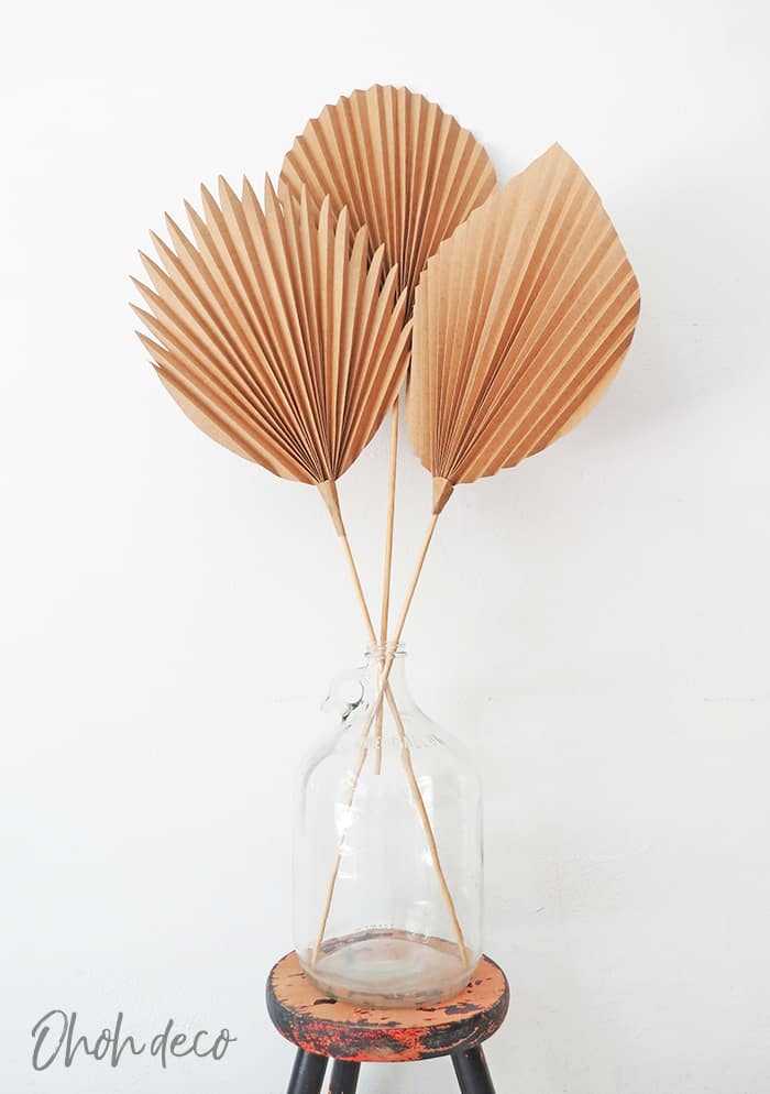 DIY palm leaf