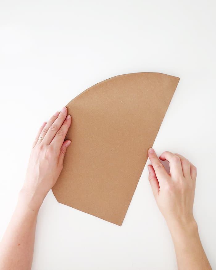 diy paper palm leaf folding