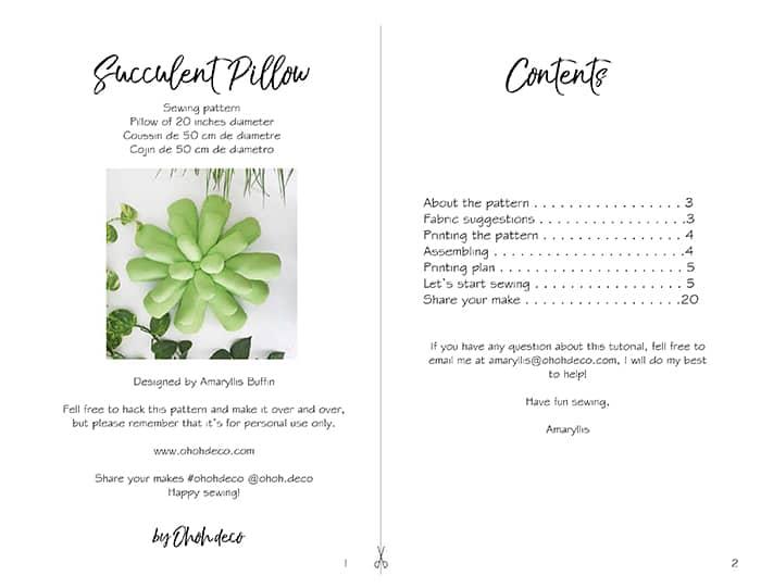 succulent pillow diy sewing tutorial