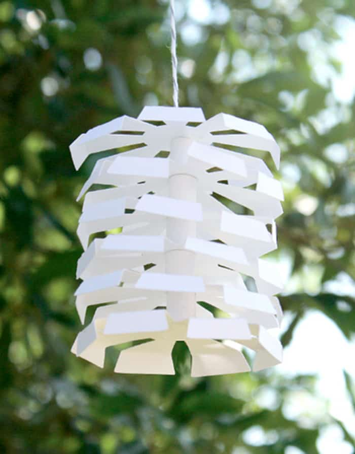 diy paper hanging decoration