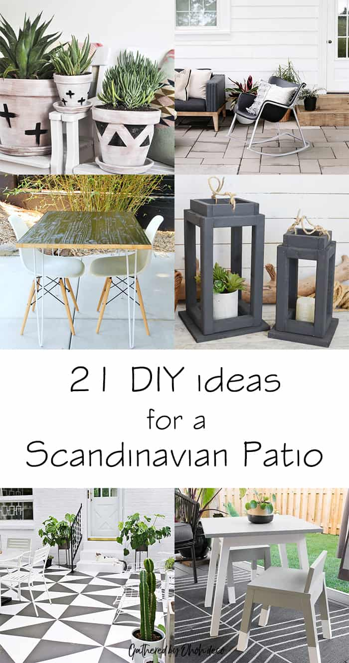 DIy scandinavian patio ideas