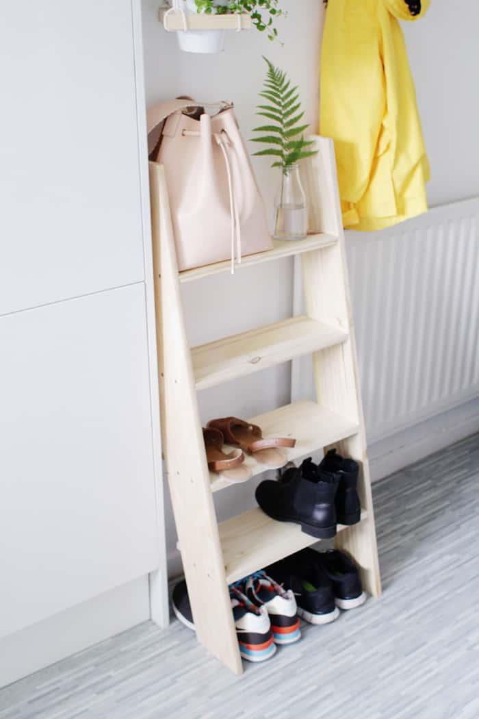 diy shoe shelf storage
