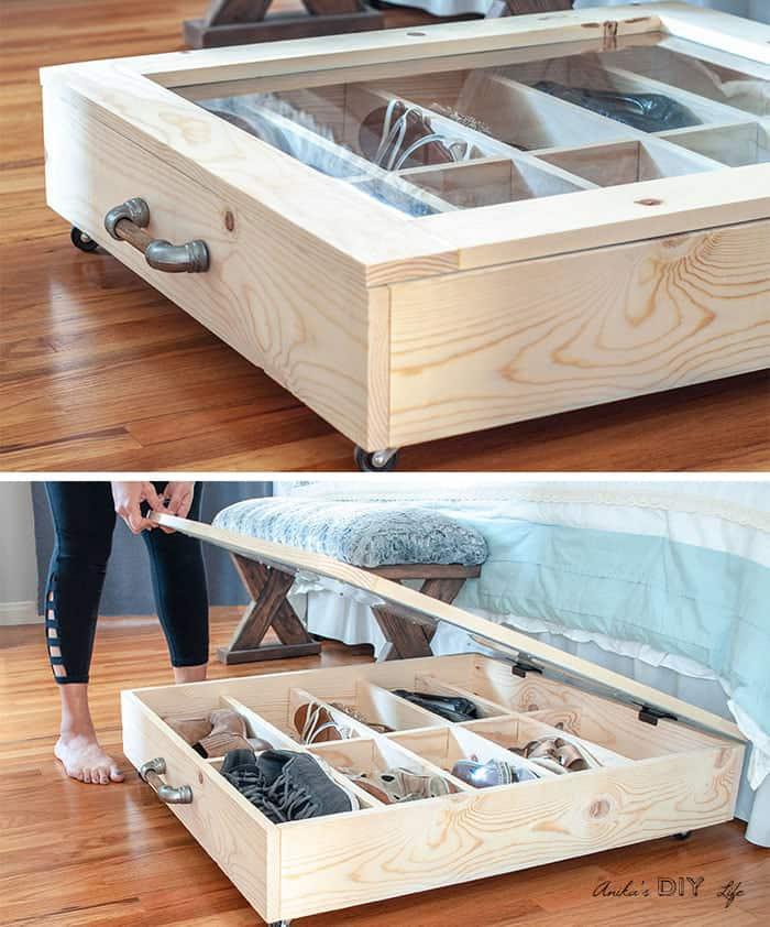 iunder bed shoe storage