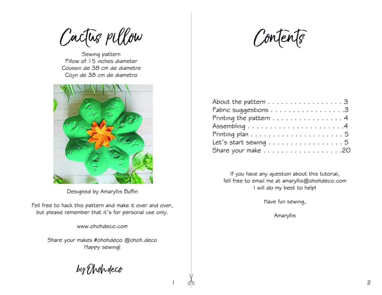 Cactus pillow tutorial sample