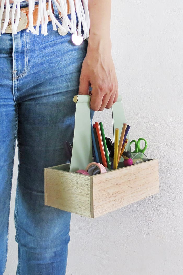 how to make a craft caddy