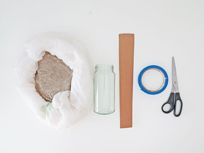 material to make diy flower vase