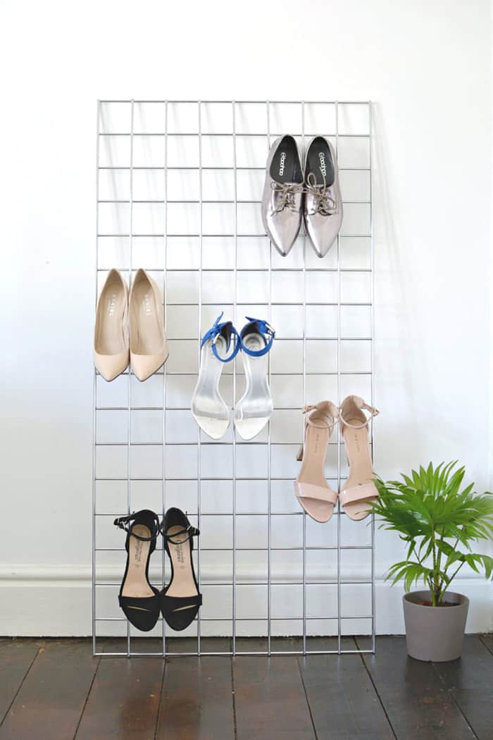 diy shoe storage high hell